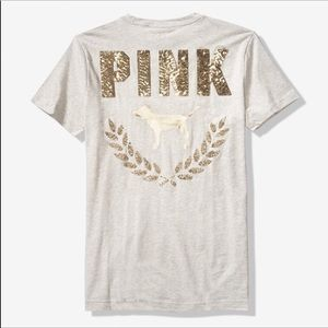 Victoria's Secret Pink Bling Campus Tee L/XL